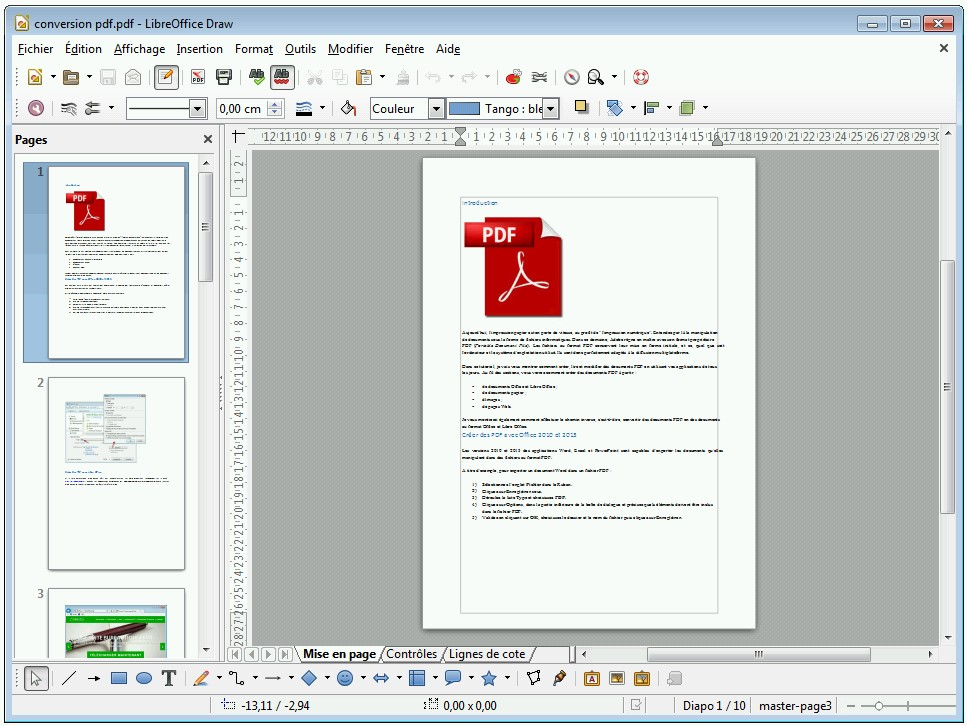 Modifié un fichier pdf